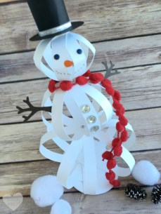 Paper Crafts Ideas Adults How To Make A Snowman Craft With Paper Strips The Crafty Blog Stalker