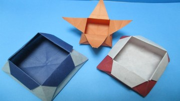 Paper Crafts Instructions How To Make Easy Origami Boxpaper Box Making Instructions Step