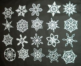 Paper Cutting Crafts How To Make 6 Pointed Paper Snowflakes 11 Steps With Pictures