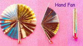 Paper Fan Craft For Kids Diy Homemade Newspaper Hand Fan Best Out Of Waste Kids Craft