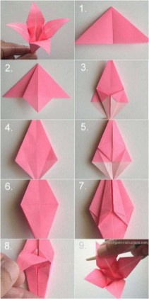Paper Folding Crafts Instructions Diy Paper Origami Lily Vintage Wedding Corsages Boutonnires