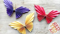 Paper Folding Crafts Instructions Easy Paper Butterfly Red Ted Arts Blog