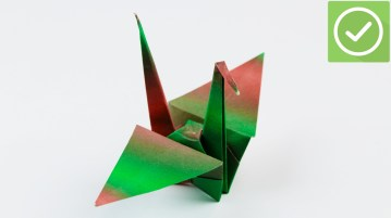 Paper Folding Crafts Instructions How To Fold A Paper Crane With Pictures Wikihow