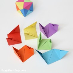 Paper Folding Crafts Instructions How To Fold Origami Paper Cubes Frugal Fun For Boys And Girls
