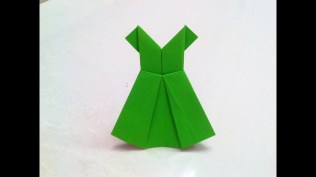 Paper Folding Crafts Instructions How To Make An Origami Paper Dress 1 Origami Paper Folding