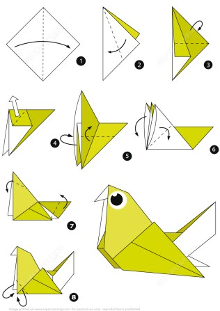 Paper Folding Crafts Instructions How To Make An Origami Pigeon Step Step Instructions Free