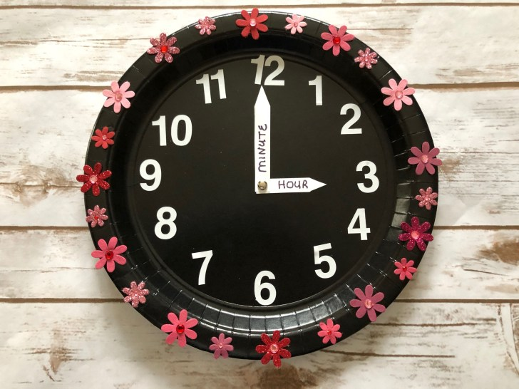 30 Beautiful Image of Paper Plate Clock Craft