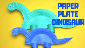 Paper Plates Arts And Crafts How To Make A Paper Plate Dinosaur Paper Plate Craft Youtube