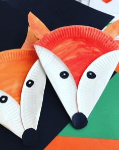 Paper Plates Arts And Crafts Paper Plate Red Fox Dekoracje Pinterest Manualidades Nios
