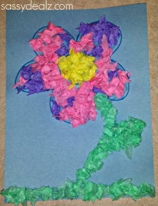 Paper Tissue Crafts Easy Tissue Paper Flower Craft For Kids Crafty Morning