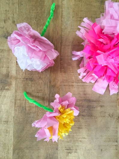 Paper Tissue Crafts Tissue Paper Flowers Baccino Kids Daily Tips Childrens Products