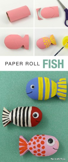 Paper Towel Roll Craft Paper Roll Fish Recycling Craft Crafting Pinterest Crafts For