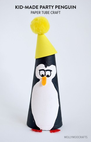 Penguin Paper Craft Mollymoocrafts Kid Made Paper Tube Penguin Craft