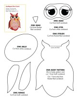 Printable Paper Crafts Templates Coloring Pages Easy Owl Templates Pumpkin Pattern Printable