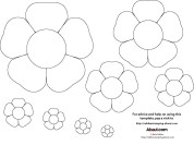 Printable Paper Crafts Templates Diy Flower Tutorials You Must Try Templates Pinterest Flower