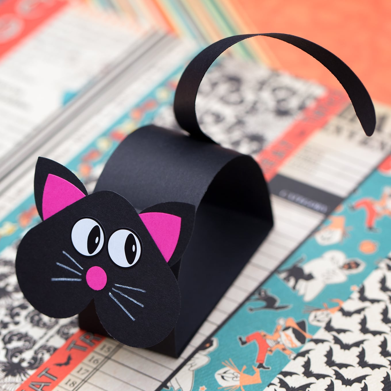 Simple and Cute Construction Paper Crafts for Kids How To Make A Paper Bobble Head Black Cat Craft