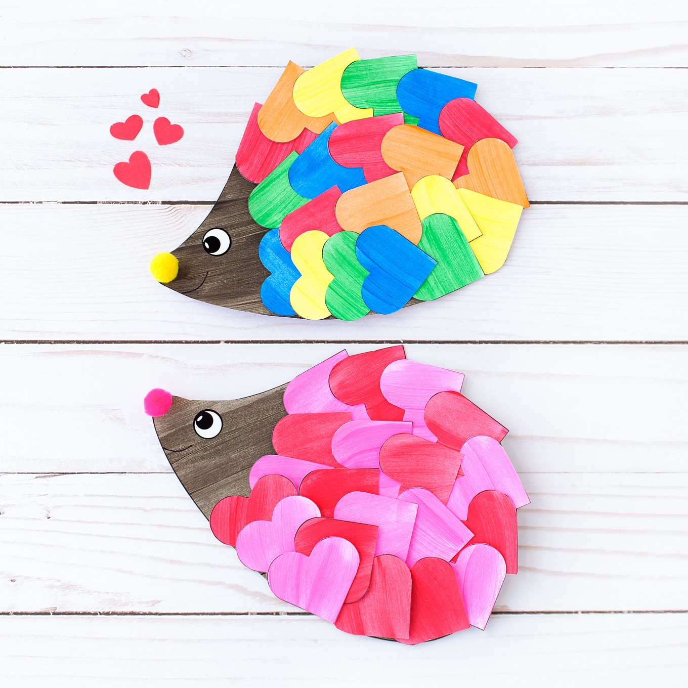 Simple and Cute Construction Paper Crafts for Kids How To Make The Sweetest Valentine Hedgehog Craft For Kids
