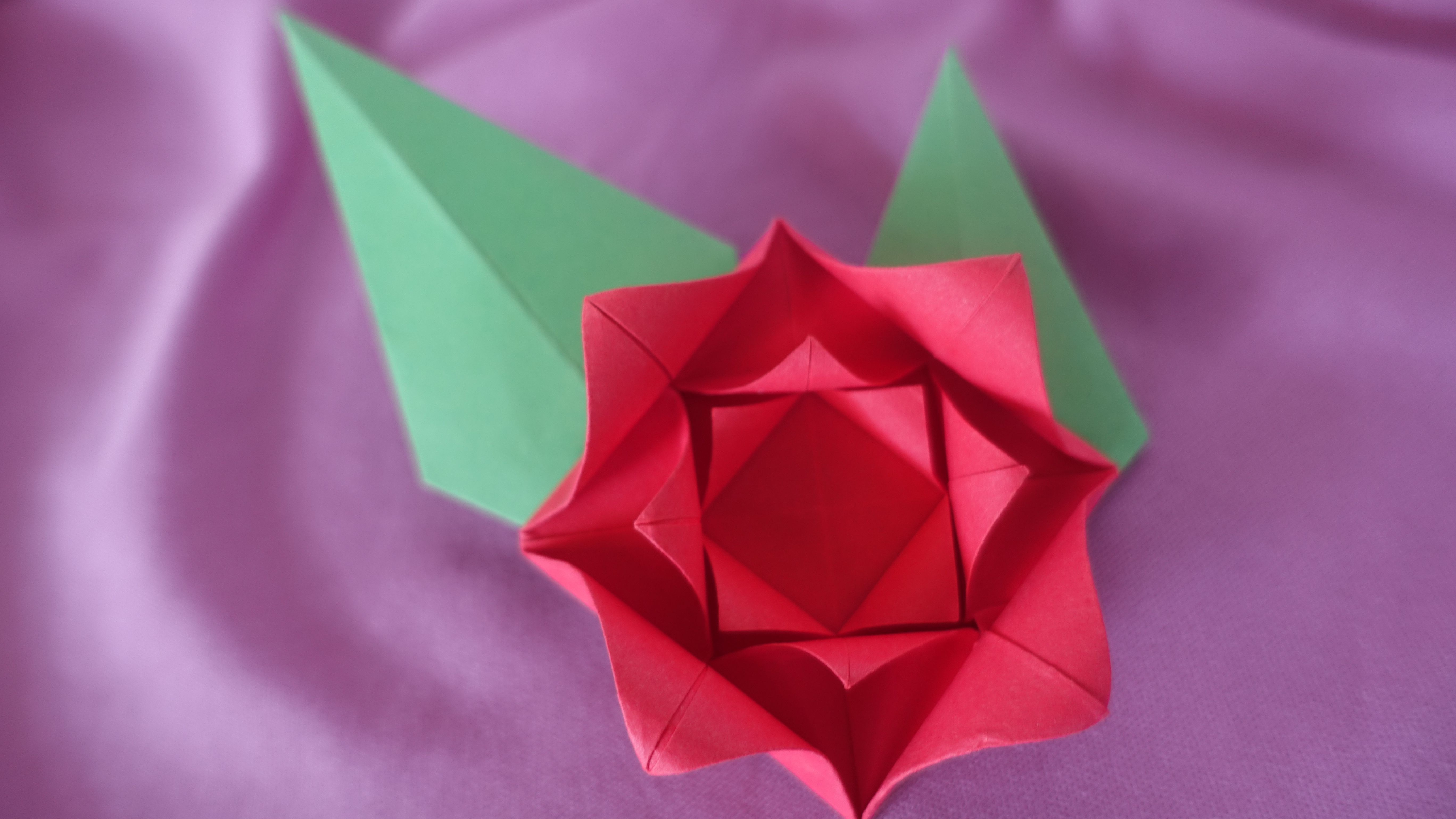 Simple and Cute Construction Paper Crafts for Kids Make An Easy Origami Rose