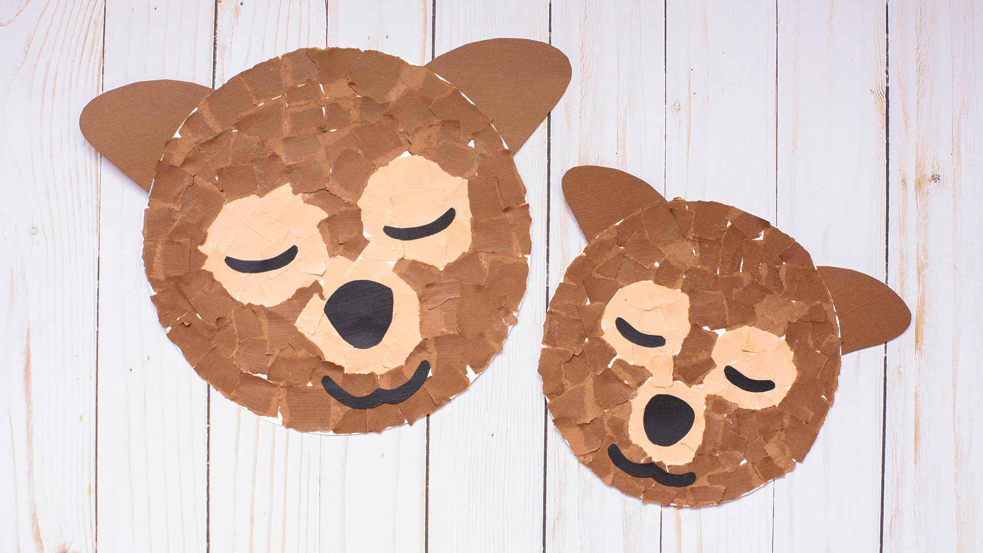 Simple Crafts Using Paper to Add New Accessory at Home Sweet Dreams Bears Torn Paper Craft Super Simple