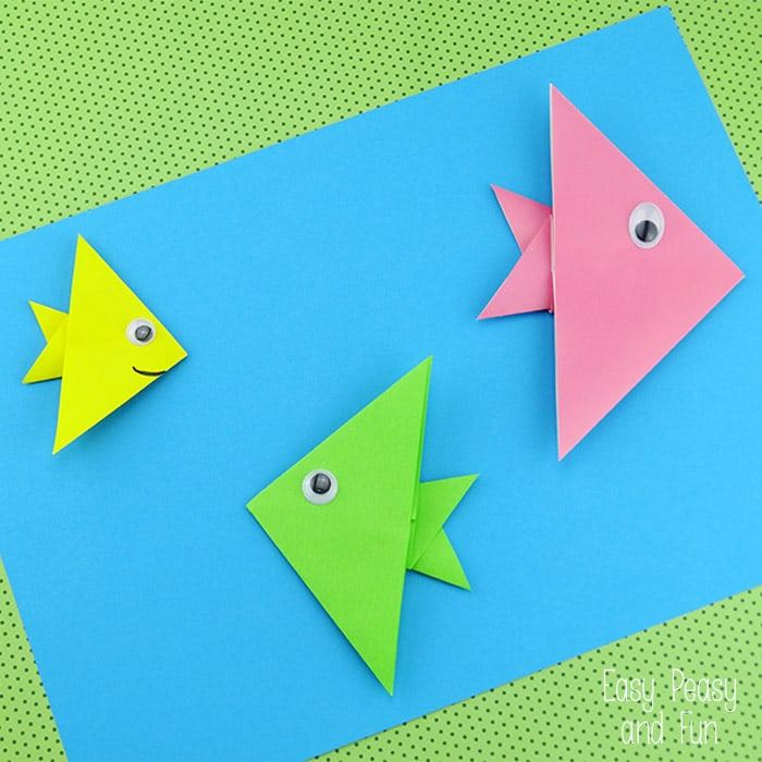 The simple paper crafts for toddlers using scissor skill 20 Cute And Easy Origami For Kids Easy Peasy And Fun