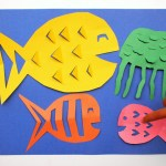 The Simple Paper Crafts For Toddlers Using Scissor Skill Diy Paper Fish Crafts Red Ted Art