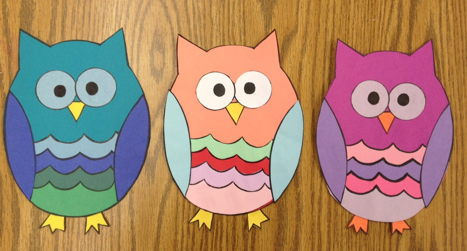 The simple paper owls crafts idea April 2012 Apples And Abcs