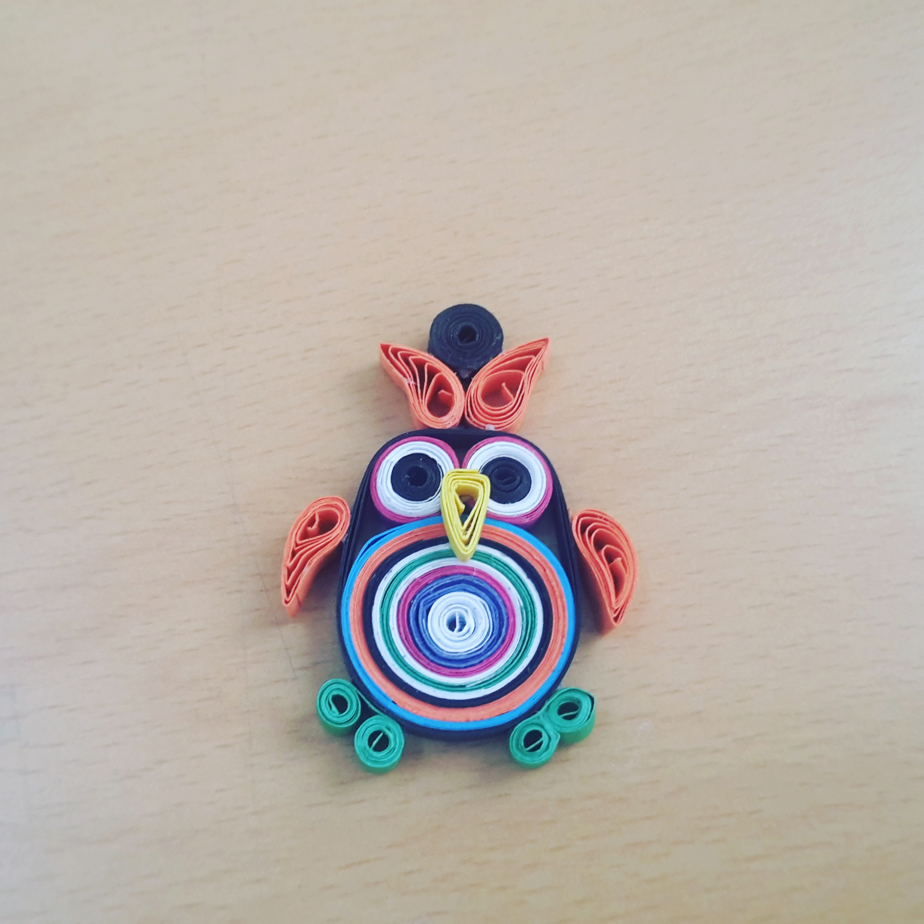The simple paper owls crafts idea One Of My Newest Creation Of Paper Quilling Owl Crafts