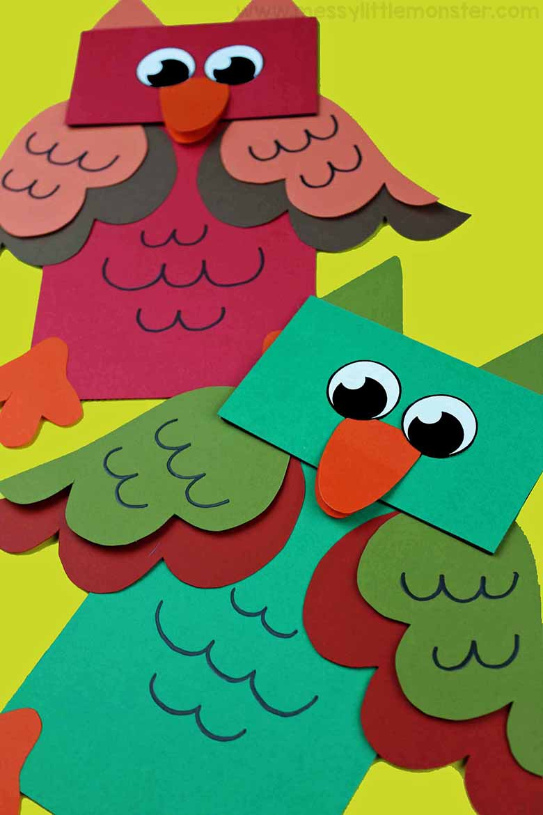 The simple paper owls crafts idea Paper Bag Animal Puppets A Fun Owl Craft For Kids Messy Little