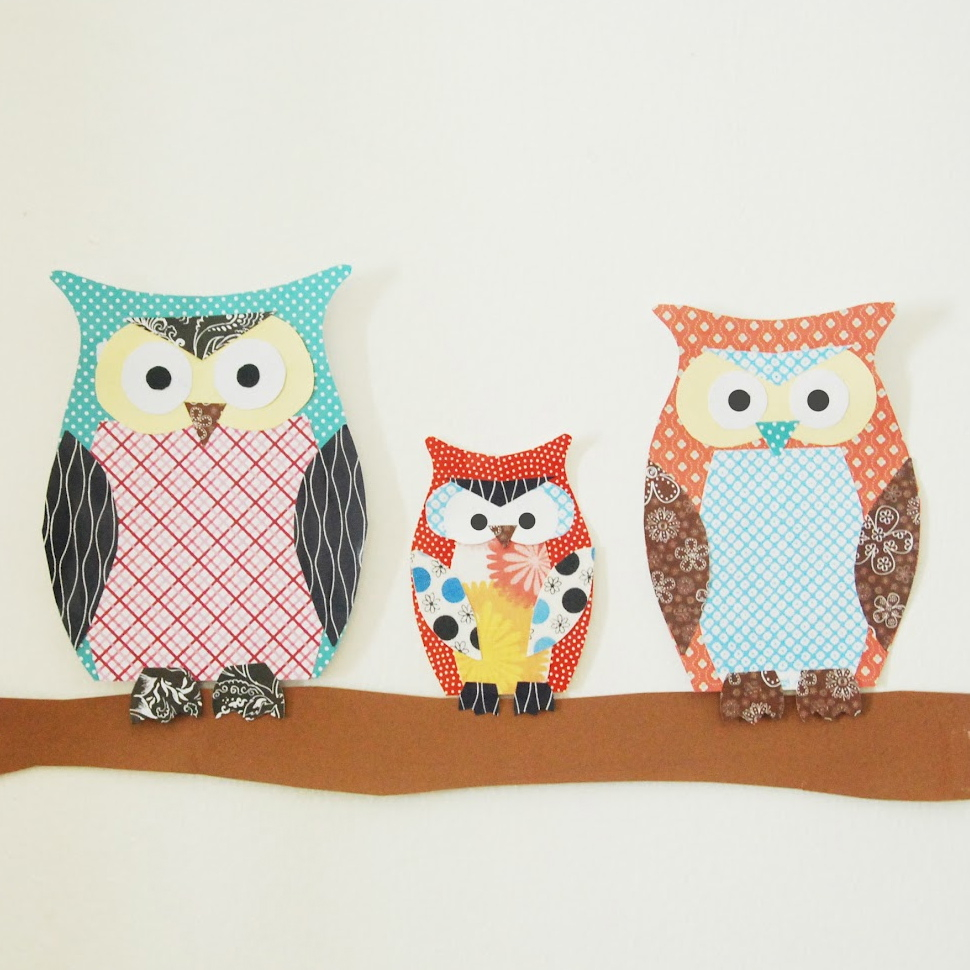 The simple paper owls crafts idea Paper Owl Family Fun Family Crafts