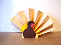 Turkey Paper Craft for a Cute Turkey Party Ornament Kid Craft Monday Turkey A Girl And A Glue Gun