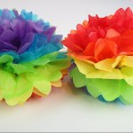 Ways On Making Tissue Paper Rainbow Craft Easter Rainbow Tissue Paper Pom Pom Fun Easy Diy Decoration For