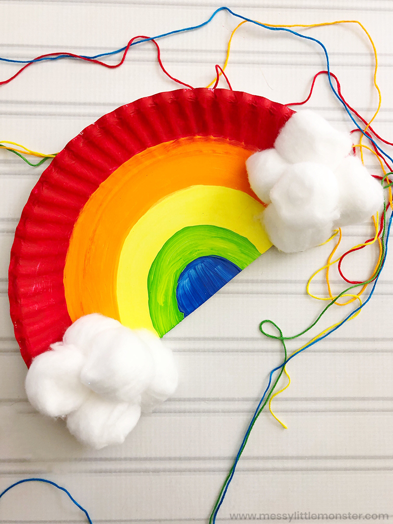 Ways on Making Tissue Paper Rainbow Craft Paper Plate Rainbow Craft For Toddlers And Preschoolers Messy