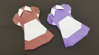 Wedding Paper Crafts How To Make Origami Dresses Paper Crafts Wedding Dress Youtube