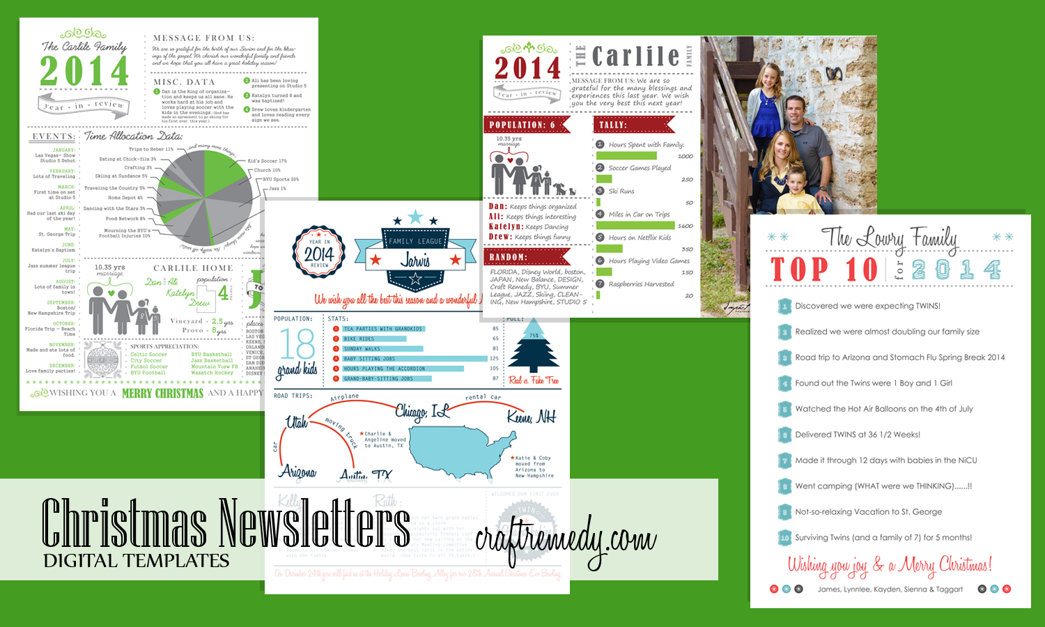 Christmas Newsletter Year In Review Infographic