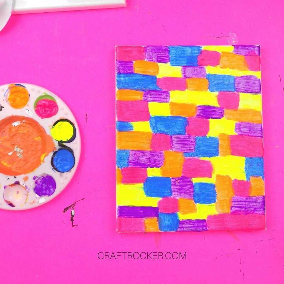 Multi-Color Rectangles on Canvas - Craft Rocker