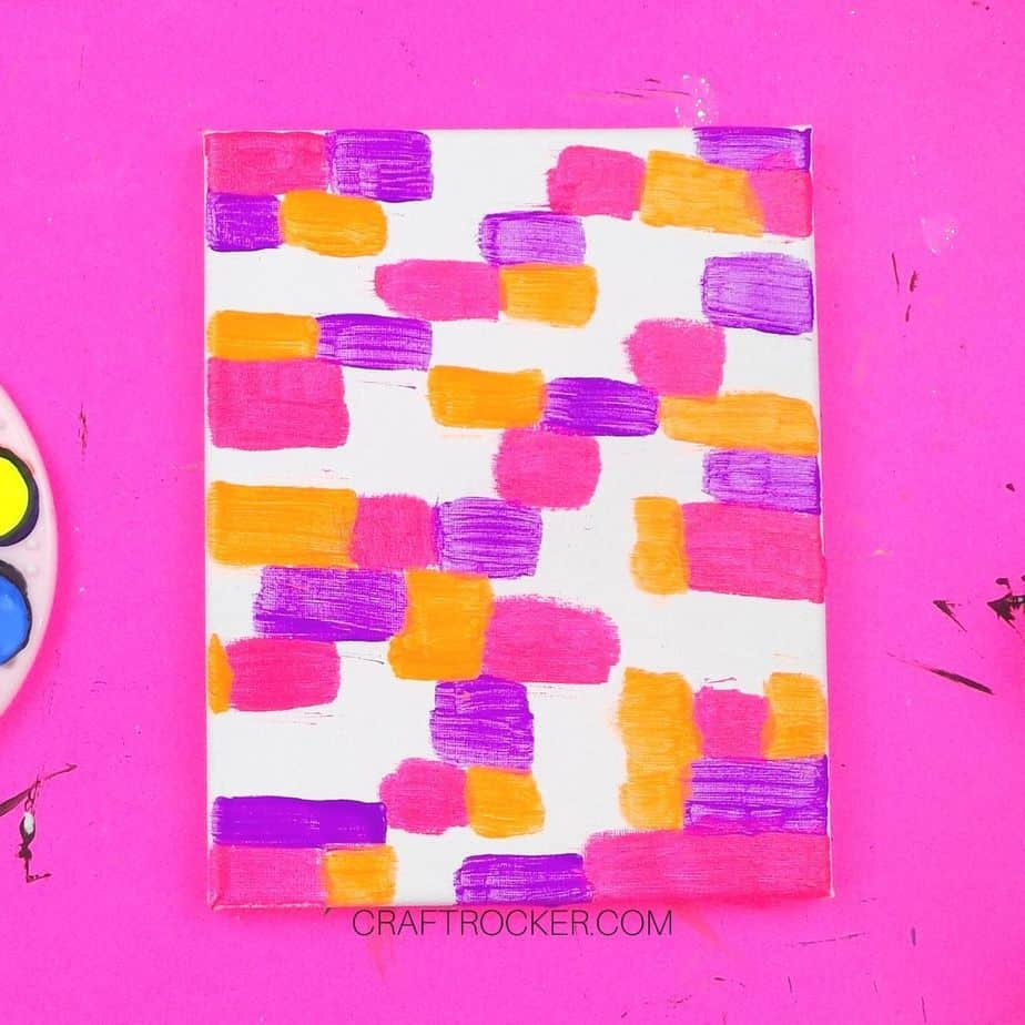 Pink Orange and Purple Rectangles on Canvas - Craft Rocker