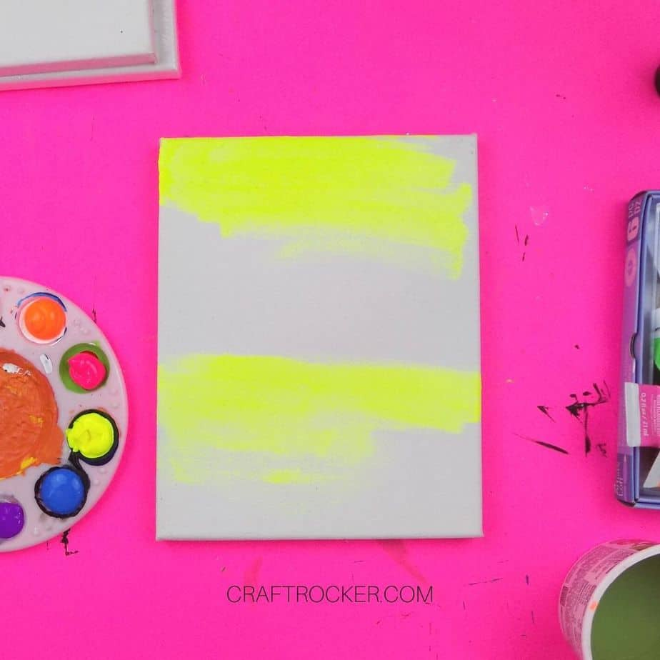 Yellow Swatches of Paint on Canvas - Craft Rocker