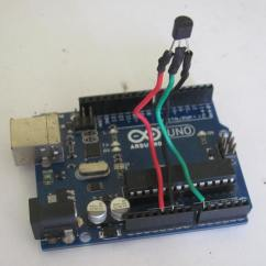 Pin 7 Arduino Pajero Headlight Wiring Diagram Interfacing Lm35 Temperature Sensor With