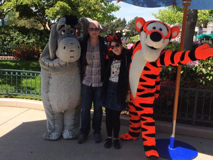 Disneyland Paris 25th Anniversary Meet and Greet - Eeyore and Tigger