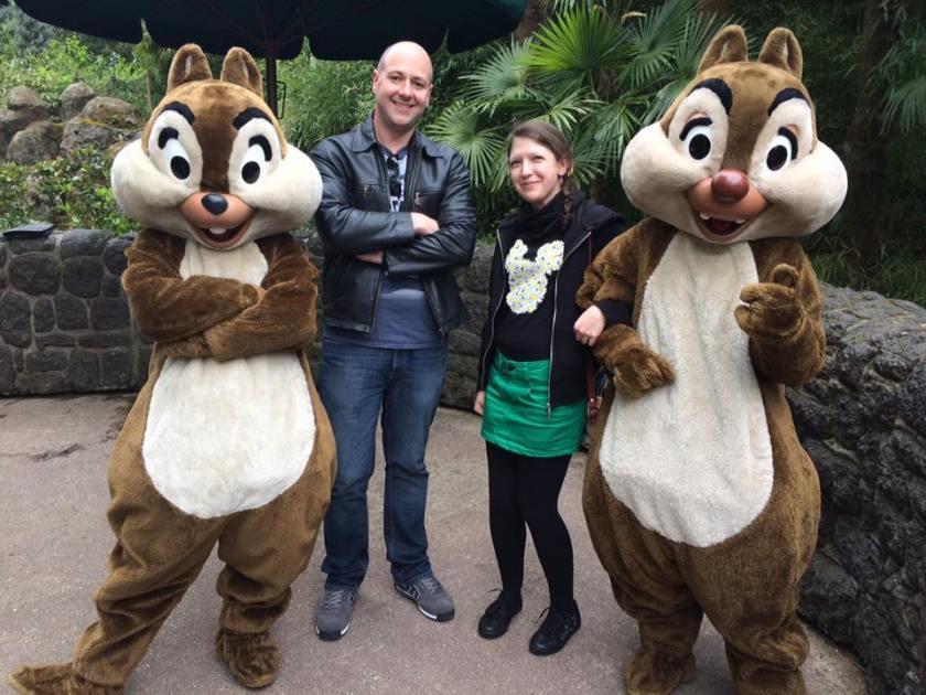 Disneyland Paris 25th Anniversary Meet and Greet - Chip and Dale