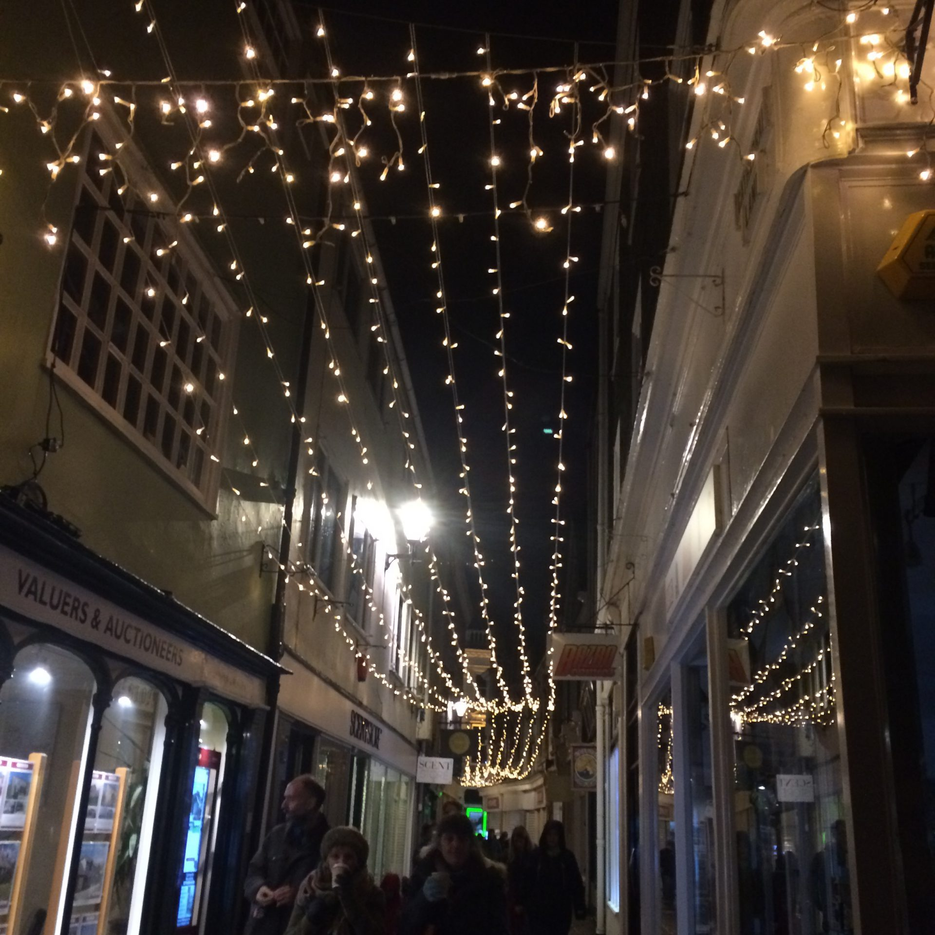 Light garlands in the town centre