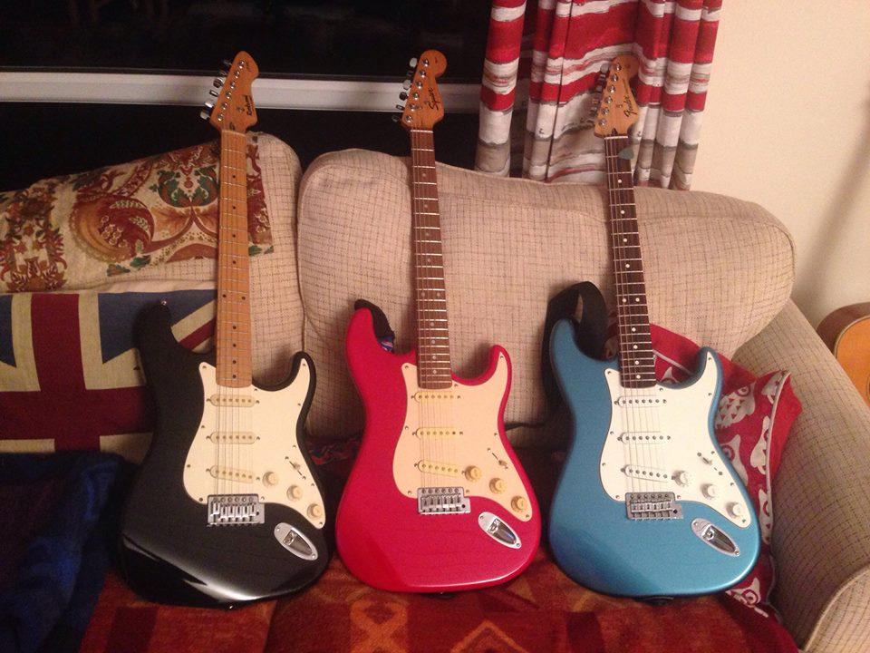 Stu's Guitars - Date Night: January 2019 Squier Jaguar, Squier Strat, Fender Strat
