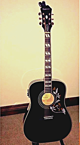 My Guitar Epiphone Hummingbird in Ebony