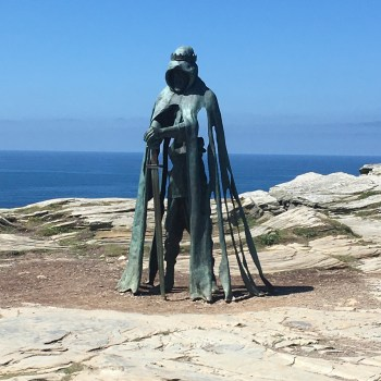 Statue of King Arthur found on the cliffs at Tintagel