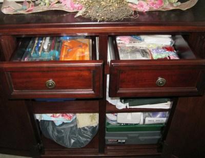 Craft Table Storage