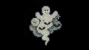 How to Make a Halloween Beaded Cross Stitch Pin
