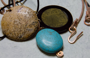 leather cords and pendants