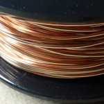 Bronze wire on spool