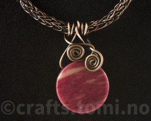 Viking weave with thulite