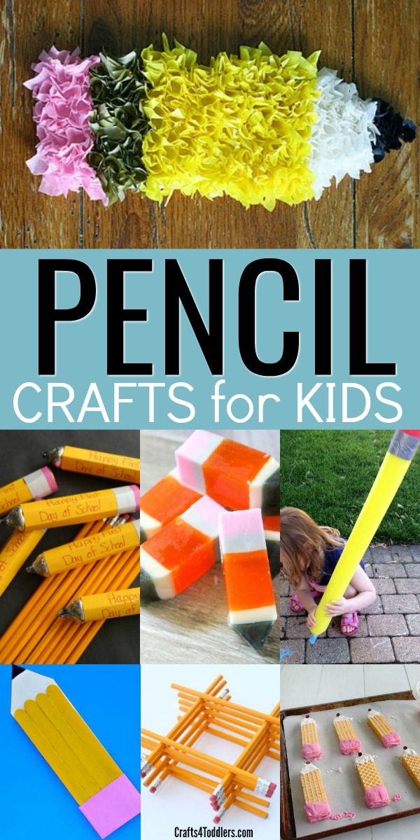 12 Easy And Fun Pencil Craft Ideas For Kids Crafts 4 Toddlers